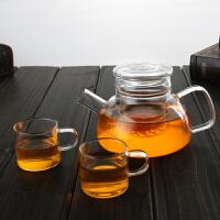当当优品 北欧玻璃茶壶 手工吹制 高硼硅