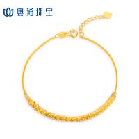 CNUTI粤通国际珠宝 18K金手链 K金凤尾手链