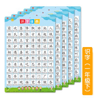 人教版小学一年级课本同步识字挂图 儿童学习生字认字识字表j8e