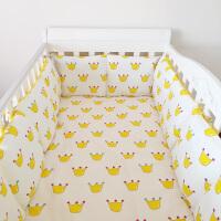 ins皇冠床围儿童床上用品套件婴儿床围纯棉可拆洗椭圆床围栏定做 皇冠 无荧光 十件套 B(被芯褥芯各2.0斤)