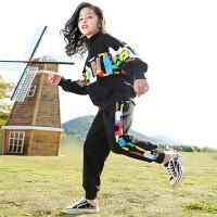 儿童春装套装女童时髦运动服两件套