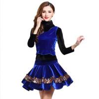 新款套装秋三件套金丝绒拉丁舞蹈服 2017广场舞服装演出女