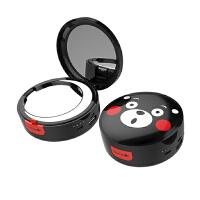 熊本熊化妆镜充电宝 LED补光灯 美妆移动电源 小巧折叠送女友礼物 如图