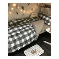 北欧ins简约小清新床单四件套3学生床上用品宿舍单人三件套被套4