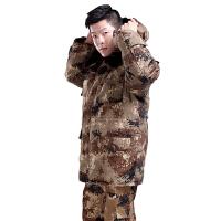 荒漠迷彩大衣男式防寒保暖加厚劳保棉大衣棉袄 165 90-110斤