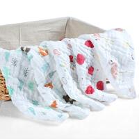 纱布口水巾婴儿洗脸毛巾用品宝宝小方巾手帕手绢