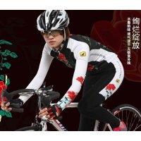 新款女士七分裤薄款自行车山地车骑行服长裤自行车裤 繁花