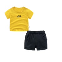 男童夏装短裤子套装婴儿短袖t恤1岁7个月3宝宝衣服