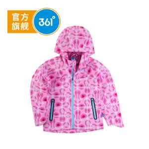 361度童装女童外套梭织薄外套2018年秋季儿童休闲服K61812603