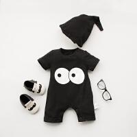 女婴儿连体衣服夏天宝宝夏装男新生儿套装哈衣0短袖3个月6夏季1岁