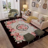 简约现代珊瑚绒地毯客厅沙发茶几毯卧室床尾床边垫 欧式可水洗