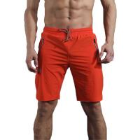20180317231722396夏季新款 男士休闲短裤 松紧弹力中裤 五分裤纯色