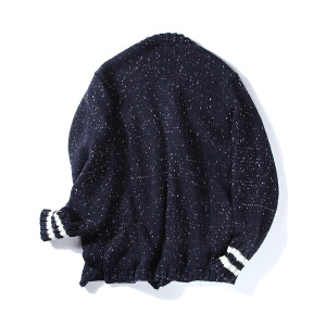 【限时抢购到手价:135元】AMAPO潮牌大码男装 秋季新款休闲时尚针织衫男士胖子大码开衫毛衣