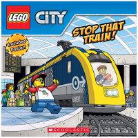 Lego City Stop That Train 火车快停 乐高城市 带明信片的故事书 英文原版进口儿童书 3-6岁