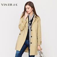 YINER音儿 2017秋装新款时尚休闲百搭中长款风衣外套女8C57107160