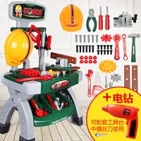 儿童过家家工具箱玩具套装螺丝刀仿真可拆卸维修理工具台男孩宝宝