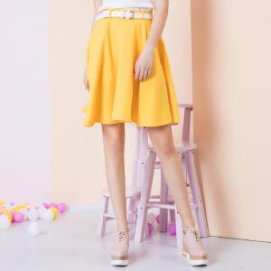zdorzi卓多姿2017夏装新款显瘦时尚百搭纯色半身裙中裙女732399