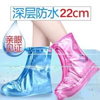 雨鞋套雨天防水鞋套女加厚耐磨防滑男女防雨鞋套�和�雨鞋套