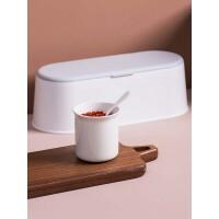 带勺陶瓷调味罐套装厨房调味盒调料瓶家用盐罐调料盒调料罐