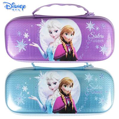 迪士尼冰雪奇缘儿童小学生铅笔文具盒女生大容量带提手双层笔袋