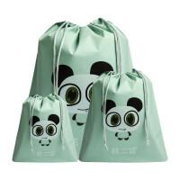 旅行收纳袋三件套行李箱整理袋脏衣袋束口袋子旅游鞋打包内衣收纳包男女士洗澡用品整理袋套装洗漱包