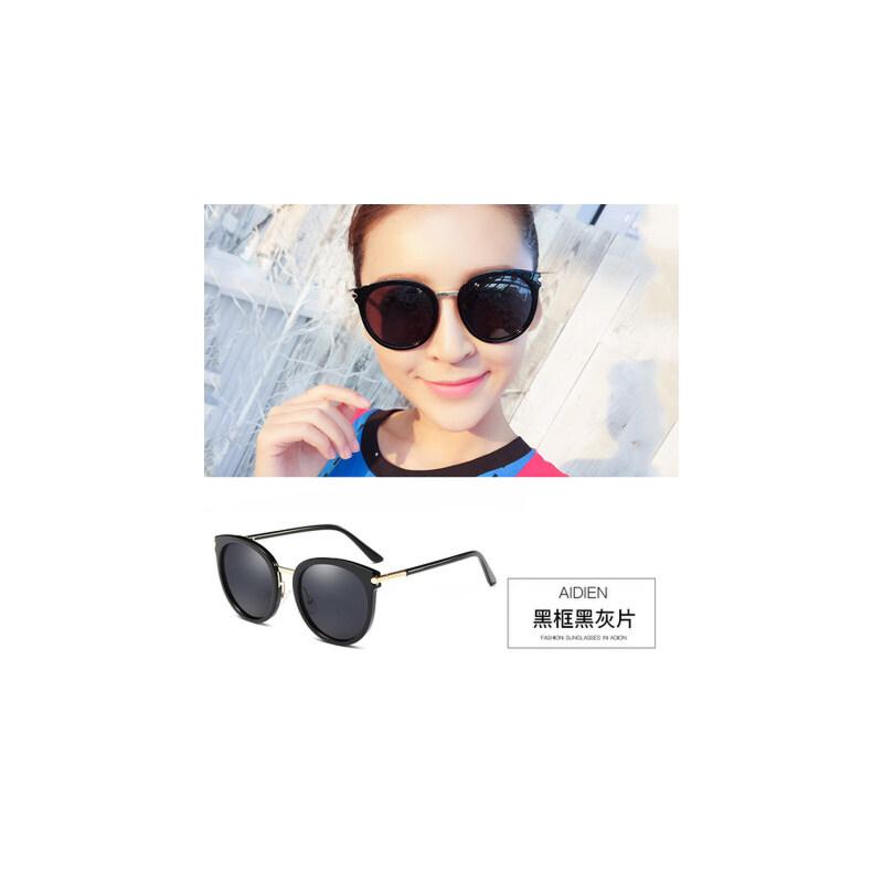 墨镜女士潮人 时尚太阳镜圆脸 眼镜炫彩膜驾驶镜 品质保证 售后无忧 支持货到付款