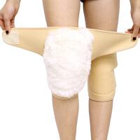 保暖护膝羊毛加厚护腿男女老人防寒骑行护具 防风皮毛一体奥力克斯