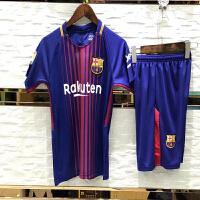 -18赛季儿童足球服套装 皇马巴黎拜仁多特曼联切尔西中国队小孩足球衣队服