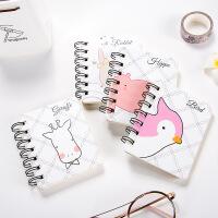 韩国文具侧翻便携线圈本 笔记本随身迷你创意口袋记事本本子