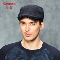 卡蒙男士毛呢帽子冬季保暖鸭舌帽休闲中老年贝雷帽英伦复古男帽2675