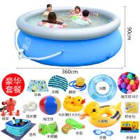 婴儿童游泳池宝宝大型家用小孩户外家庭加厚超大号充气戏水池