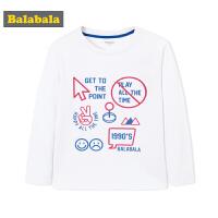 巴拉巴拉童装男童儿童t恤 男 中大童秋装2018新款长袖圆领上衣棉