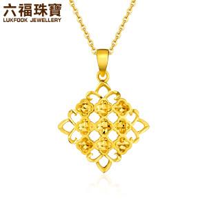 六福珠宝goldstyle足金吊坠中国结黄金吊坠不含链定价HMA15I70029