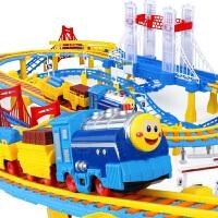 儿童小火车轨道车电动赛车汽车套装男孩男童3-4-6岁礼物玩具拼接