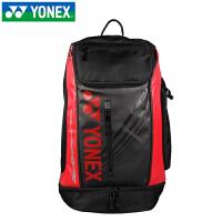 运动背包 羽毛球包 双肩背包男女款运动包背包 9612EX 黑红