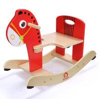 男孩儿童宝宝益智早教儿童木马摇马一岁宝宝玩具摇摇马小木马摇椅 1岁孩子礼物