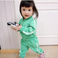秋日小运动 男女童舒适棉毛圈运动套装 太棒的质感!