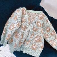 女童毛衣开衫童装女宝宝外套针织衫薄款中小童儿童