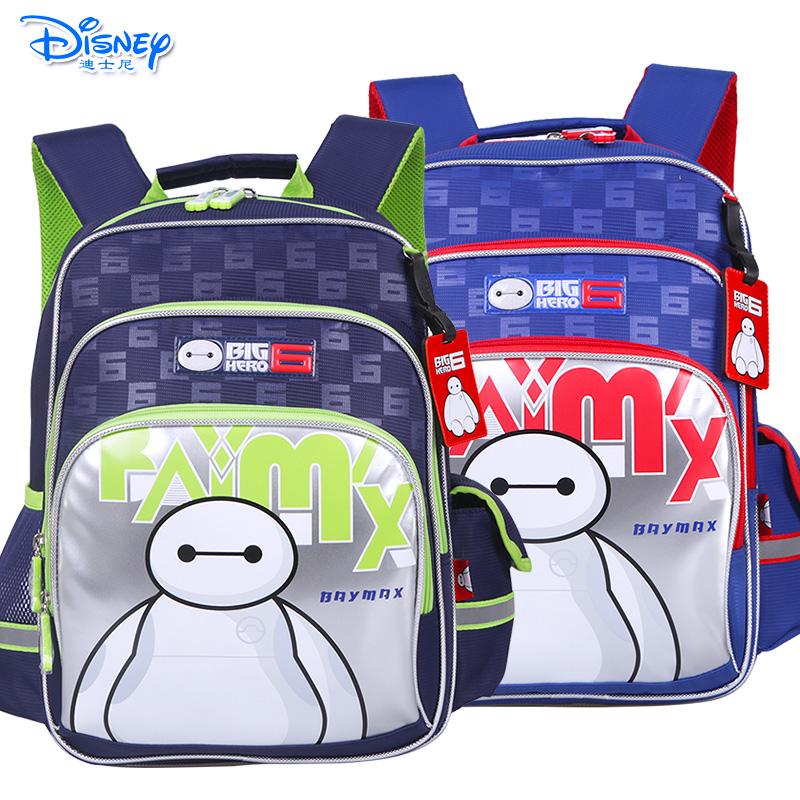Disney/迪士尼 大白小学生1-3年级儿童卡通双肩减负透气书包IB0020