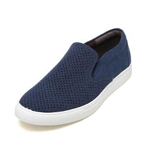 SHOEBOX/鞋柜运动休闲鞋低帮低跟时尚男鞋布面懒人鞋