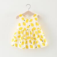 女童裙子夏季儿童柠檬背心裙0一1-3周岁女宝宝夏装公主裙