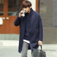 精选羊毛呢子大衣男中长款韩版新款潮流帅气秋冬毛呢外套