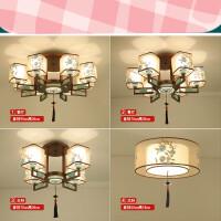 新中式吸顶灯现代客厅灯中国风仿古铁艺卧室led复古酒店餐厅灯具