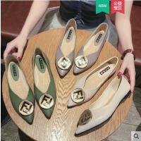 尖头平底单鞋女新款鞋子网红百搭ins同款时尚浅口休闲奶奶鞋