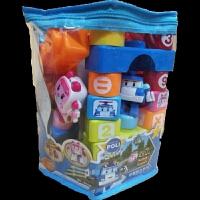 儿童玩具积木变形警车珀利熊出没积木系列 3606蓝色