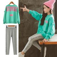 女童秋装套装中大童宽松卫衣长裤时尚洋气时髦两件套
