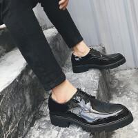 秋季男鞋英伦皮鞋潮鞋男休闲鞋 黑色