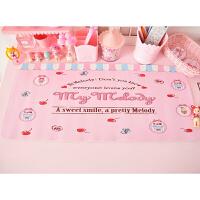 粉色少女心桌布卡通可爱长餐垫软妹粘土桌垫学生书桌垫子背景垫
