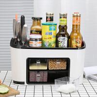 新品厨房用品调味盒塑料刀架多功能收纳置物架调料盒调味罐瓶套装