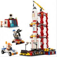 火箭航天飞机神舟十号宇宙飞船拼装积木儿童玩具